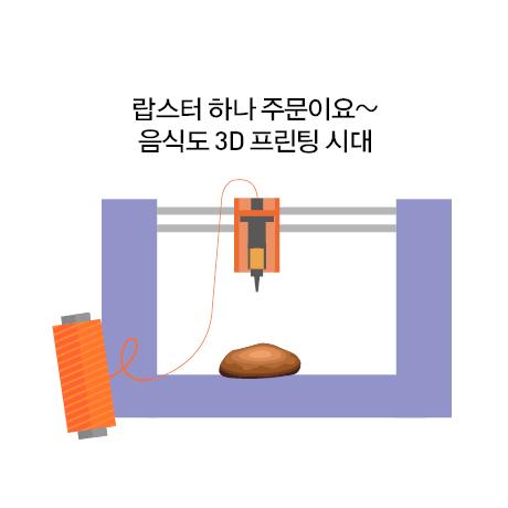 3D 푸드 프린터로 식품을 인쇄하는 과정