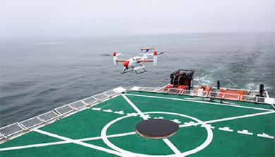 [과학뉴스] 배 위에서 틸트로터 무인기 자동이착륙 성공!
