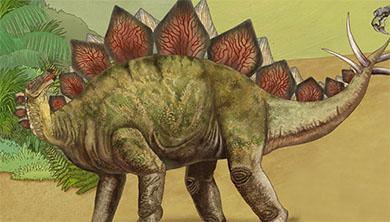 [공룡은 왜?] 빨간색으로 신호를 보낸다?! 검룡류 골판의 비밀