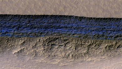 [과학뉴스] 화성의 얼음 퇴적물, 3차원으로 보다