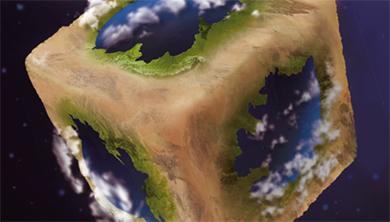 [Origin] 지구가 주사위 모양이라면?