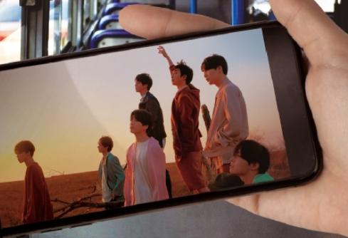 버스 공공 와이파이로 BTS 뮤비 틀어보니