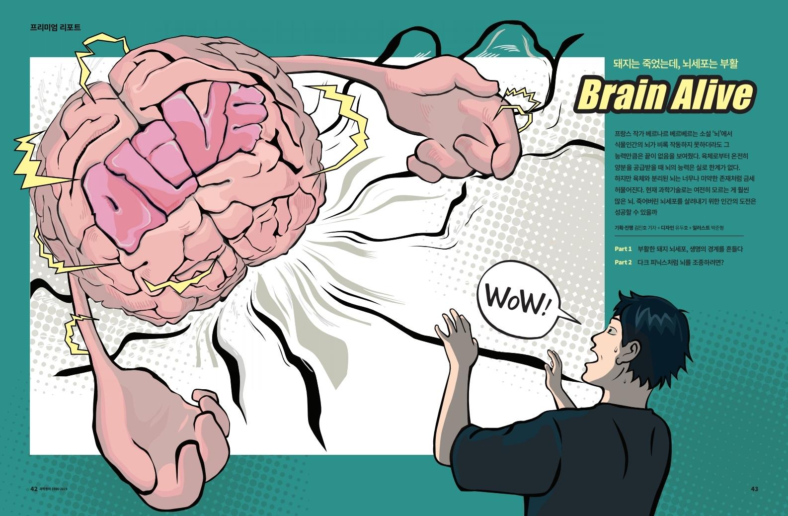 [프리미엄] 돼지는 죽었는데, 뇌세포는 부활 BRAIN ALIVE