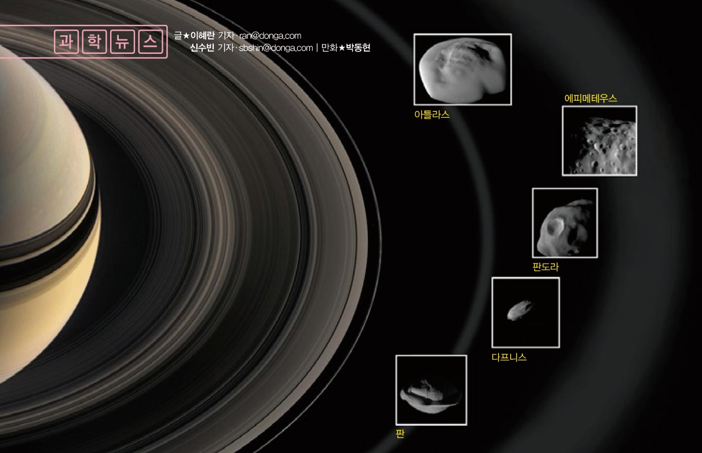 [과학뉴스]토성의 위성 색깔이 서로 다른 이유는?