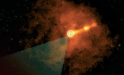 블랙홀 처음으로 모습을 드러내다