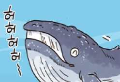 [만화뉴스] 지느러미로 싹쓸이? 혹등고래의 똑똑한 사냥법
